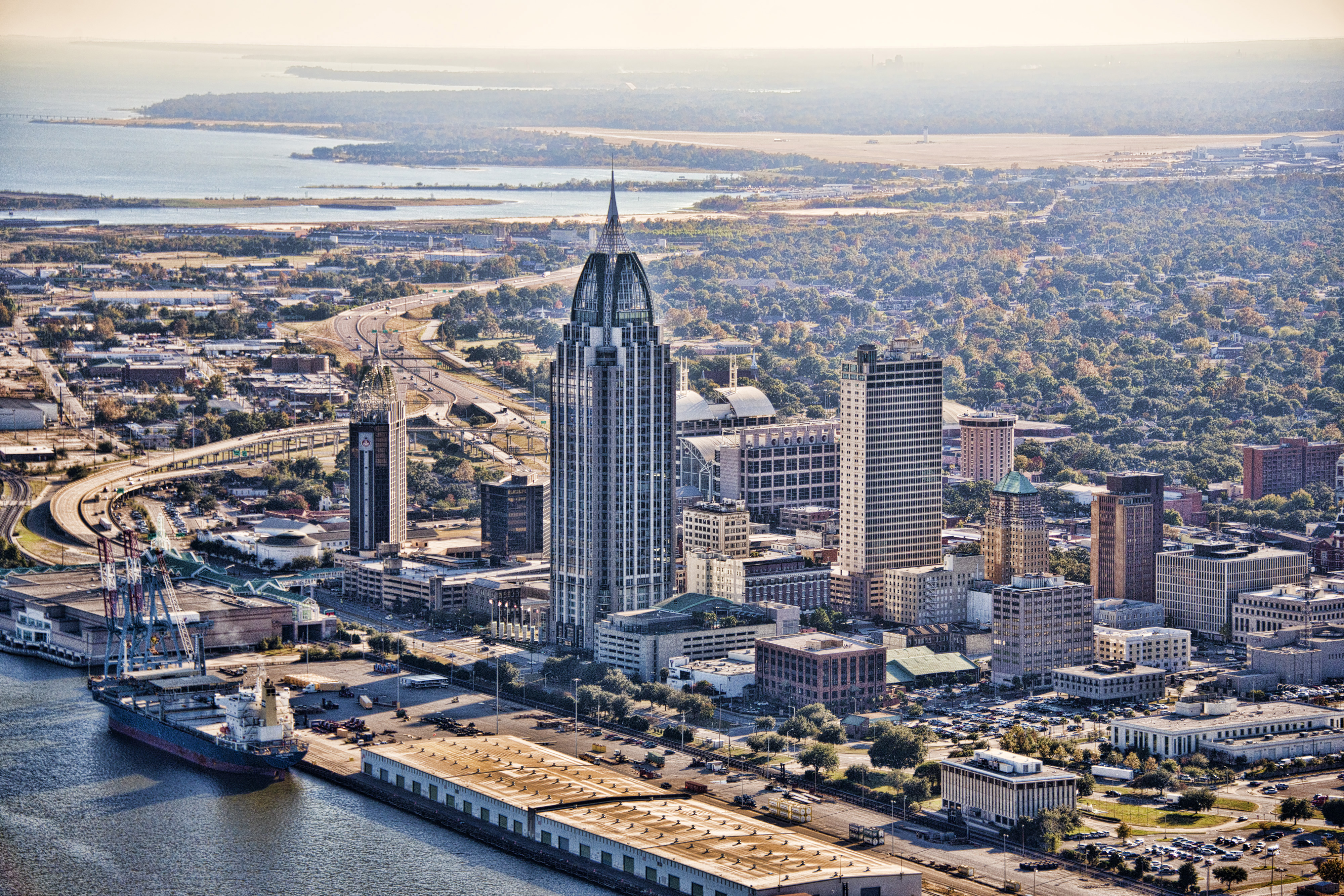 downtown Mobile, Alabama